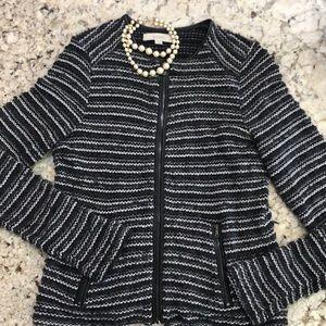 LOFT. Black & grey & silver jacket S.M/l